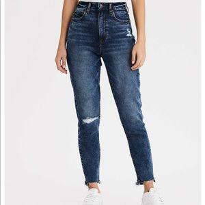 American Eagle Dark Wash Mom Jeans
